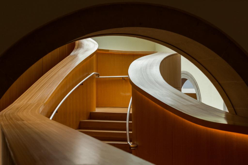 Escalier d'intérieur en bois design et contemporain