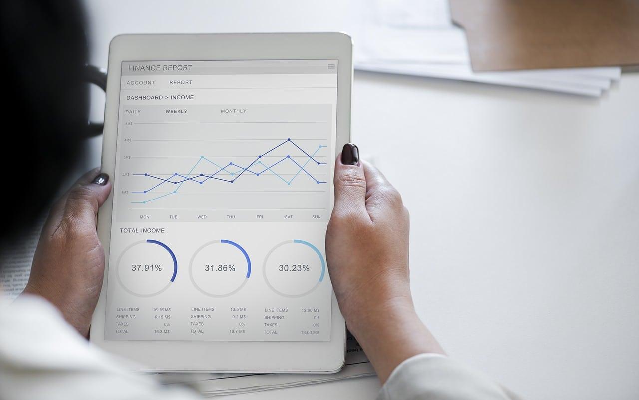 statistiques et graphiques tablette