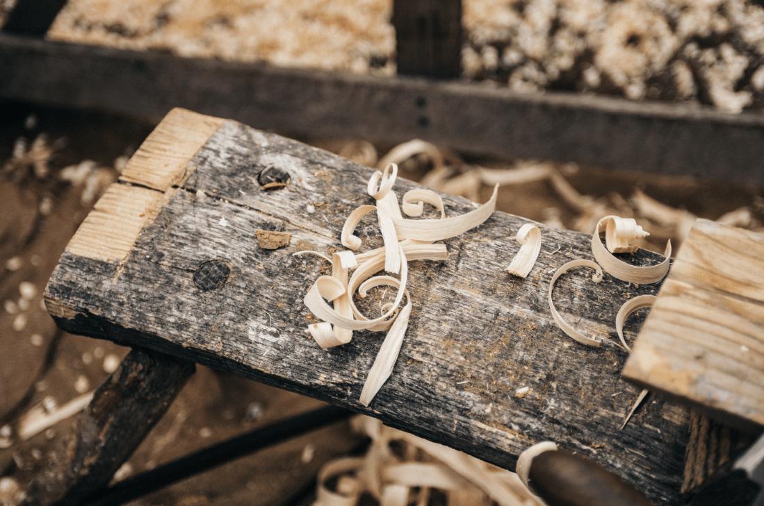 Lieu de sciage du bois