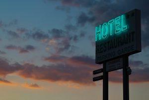 pancarte hôtel